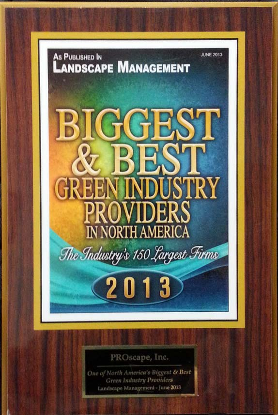 North America's Biggest and Best Green Industry provider 2013 Award
