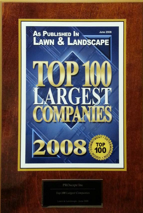 Top 100 Largest Landscape company award