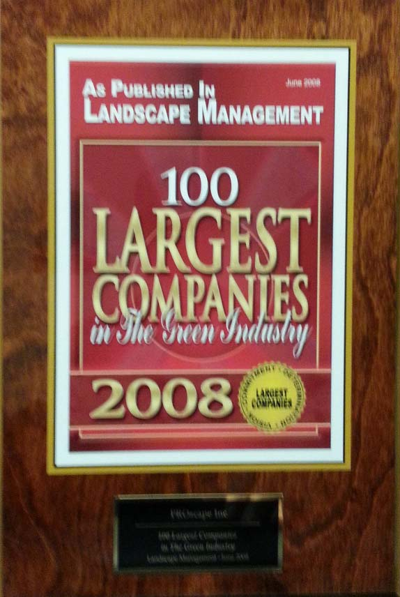 Top 100 largest Landscape Management company 2008 Award