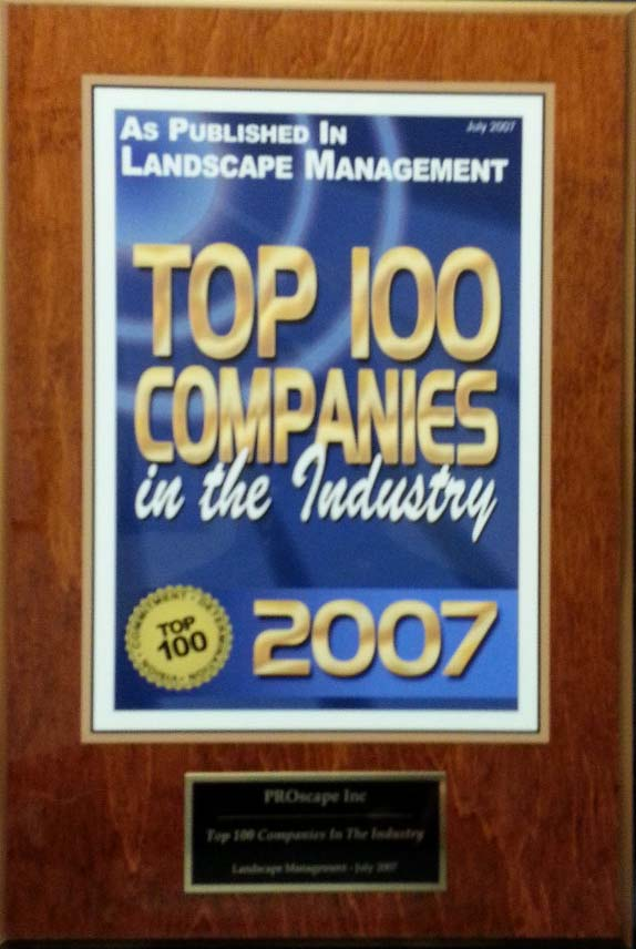 Top 100 Landscape Management company 2007 Award