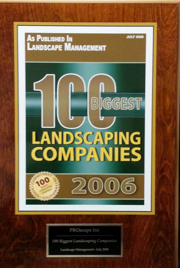 Top 100 biggest Landscaping Companies 2006 Award