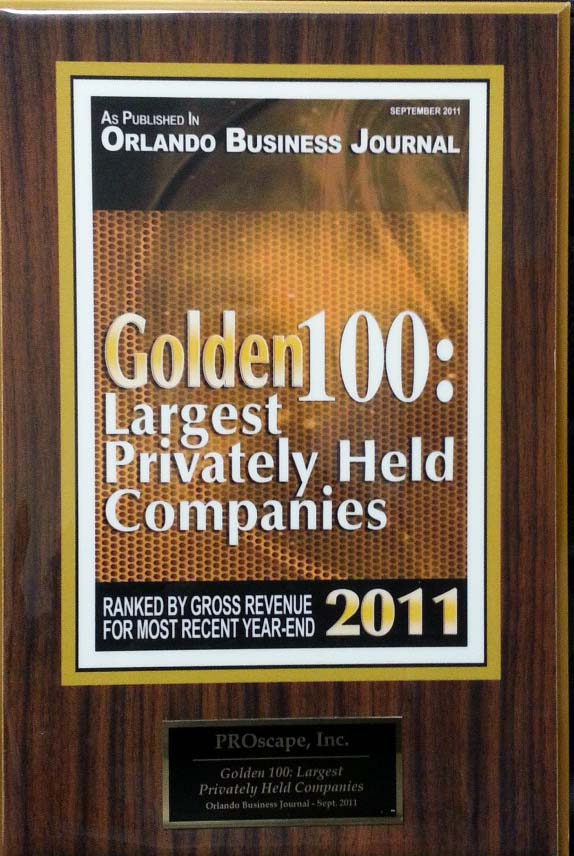 Golden 100 Largest Privately Held Companies 2011 Award